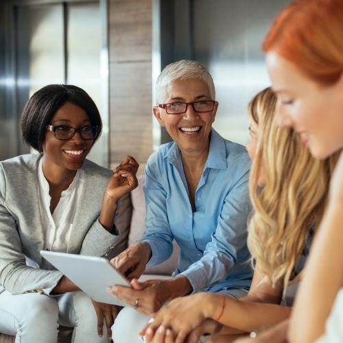 women having conversation-women empowering women image (1)
